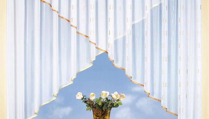 Romantische Gardinen aus leichtem Stoff