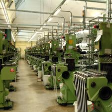 Gardinenband-Produktion