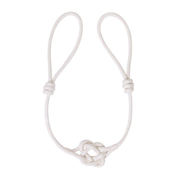 Raffhalter mit Knoten Längenverstellbar weiß