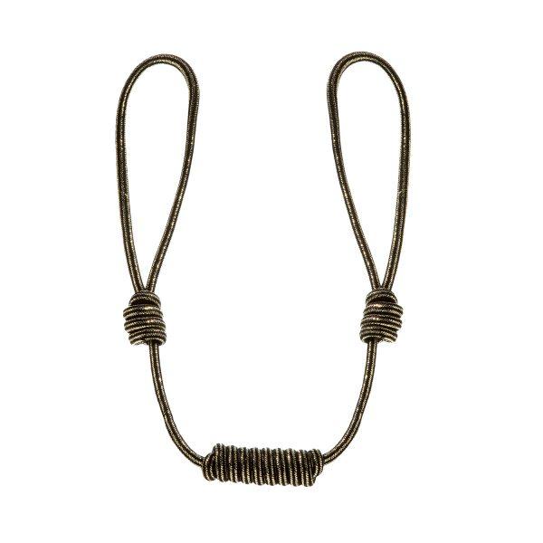 Längenverstellbarer Raffhalter mit Knoten