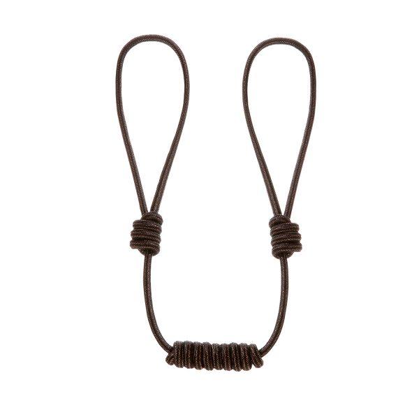 Raffhalter mit Knoten Längenverstellbar in braun