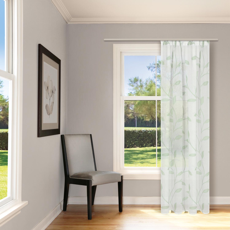 schal mit kr uselband und stangendurchzug scherli blattranke mint gerster. Black Bedroom Furniture Sets. Home Design Ideas