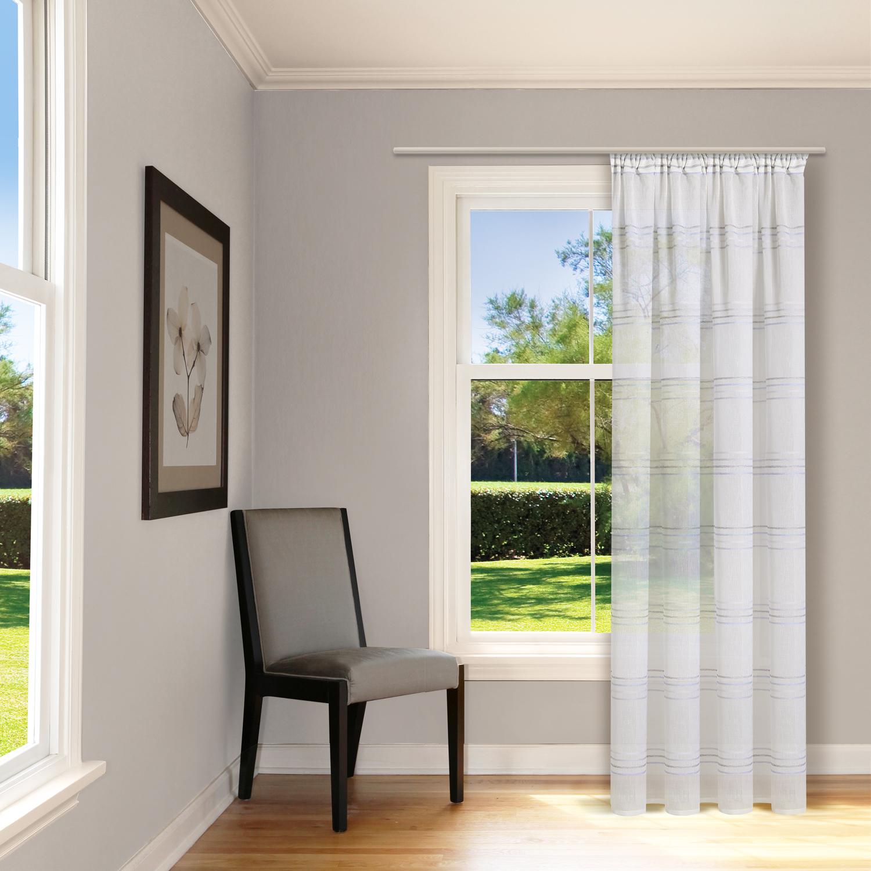 schal mit kr uselband und stangendurchzug streifen schmal. Black Bedroom Furniture Sets. Home Design Ideas