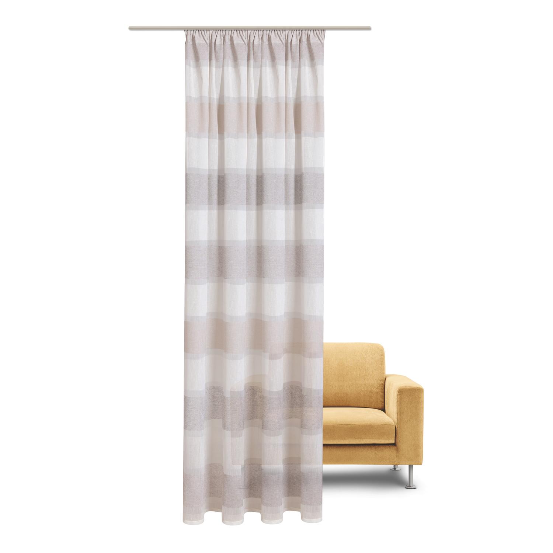 schal mit kr uselband und stangendurchzug streifen breit. Black Bedroom Furniture Sets. Home Design Ideas