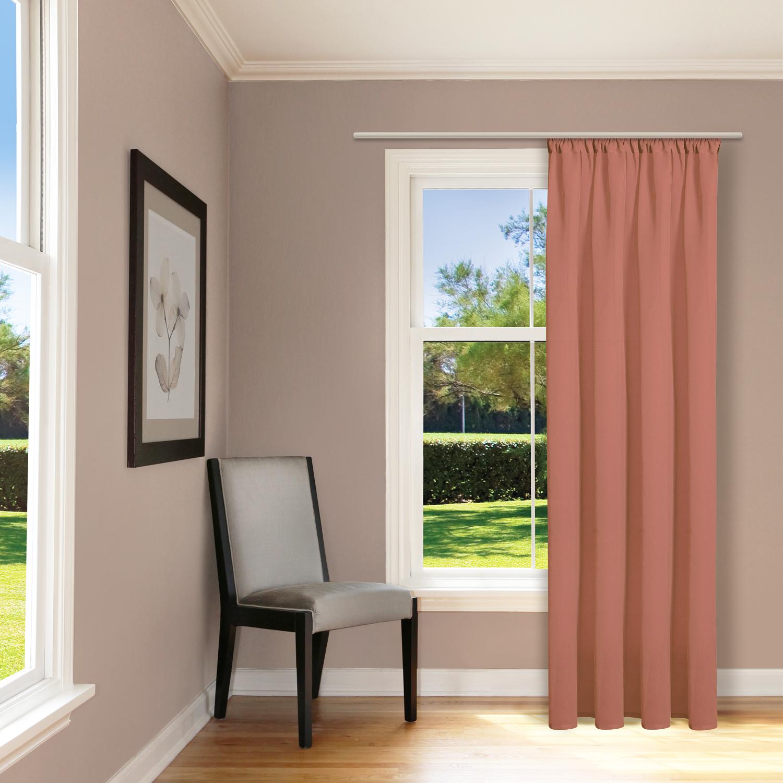 schal mit kr uselband und stangendurchzug uni. Black Bedroom Furniture Sets. Home Design Ideas