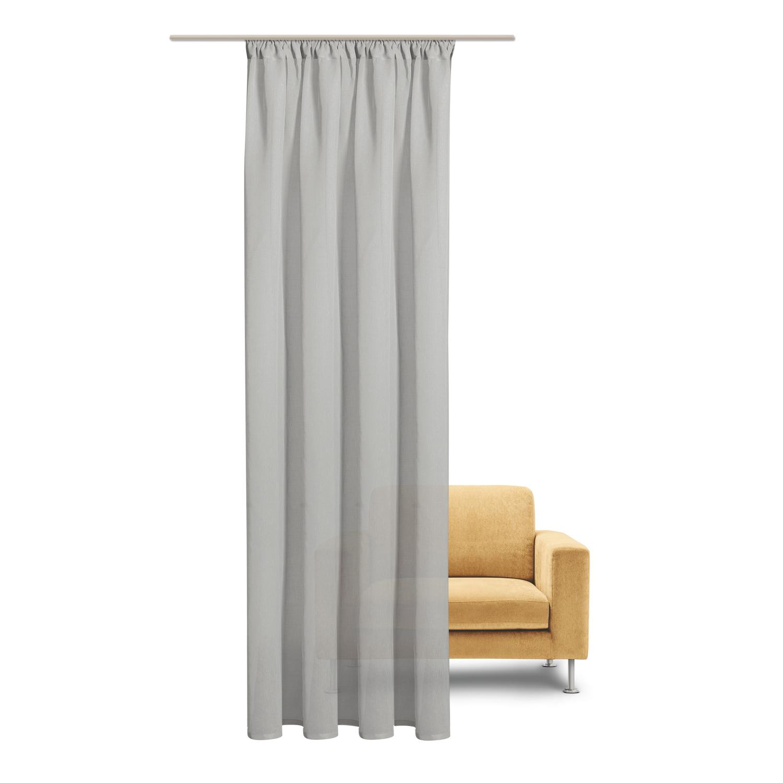 gerster schal mit kr uselband und stangendurchzug uni. Black Bedroom Furniture Sets. Home Design Ideas